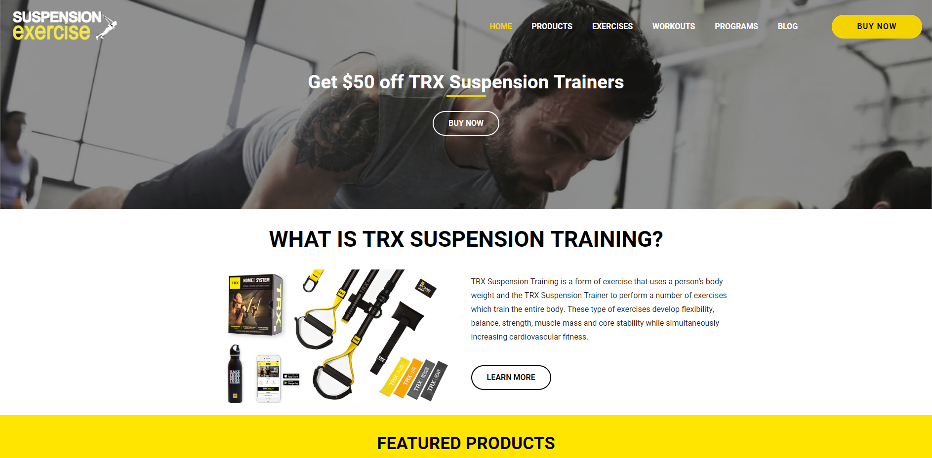 Suspension Exercise Website