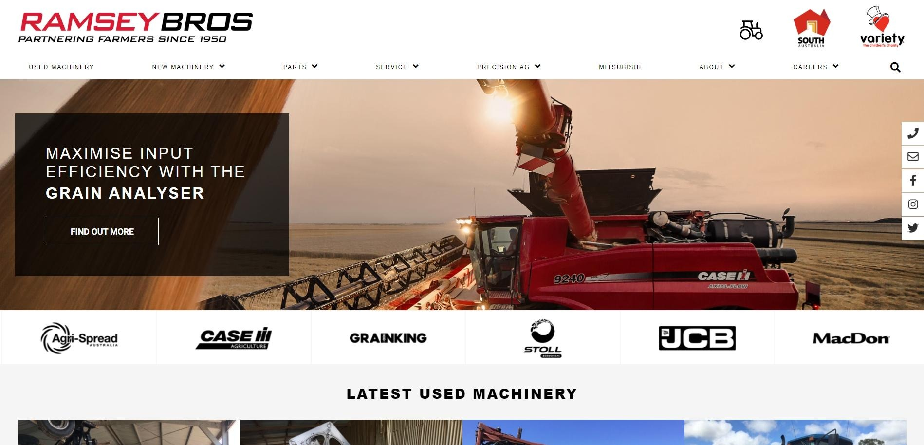 Ramsey Bros Website Redesign